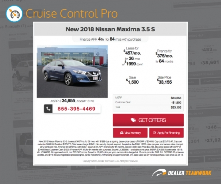 Dealer Teamwork - Cruise Control Pro
