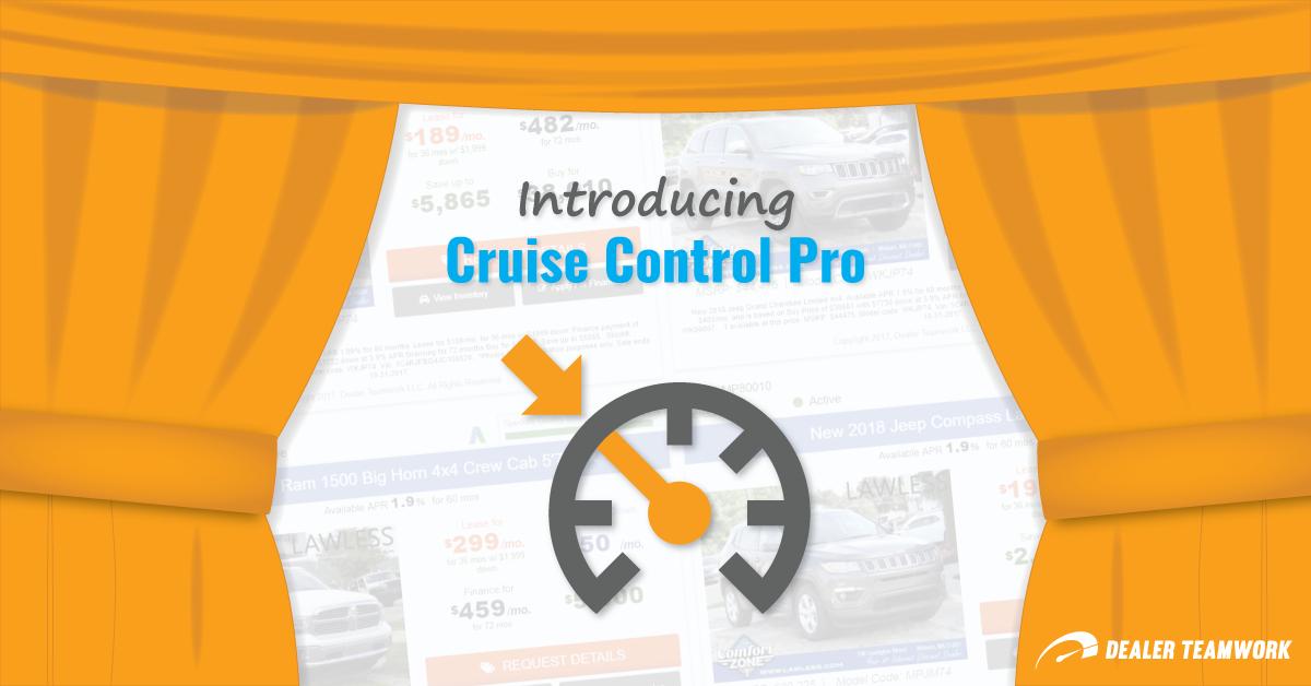 Cruise Control Pro - Dealer Teamwork