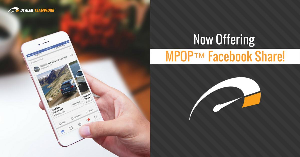 Dealer Teamwork - MPOP® Facebook Sharing