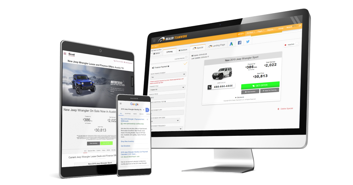 MPOP - Digital Marketing Software, Dealer Teamwork