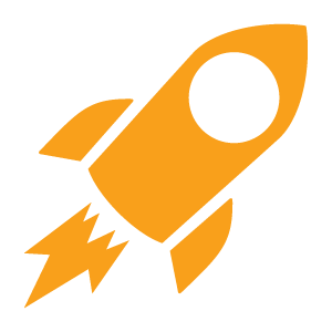 Rocket Icon Orange - Dealer Teamwork