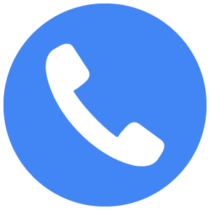 Conversions Icon - Phone in Blue Circle