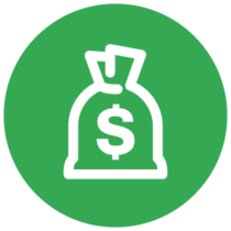 Money Icon in Green Circle