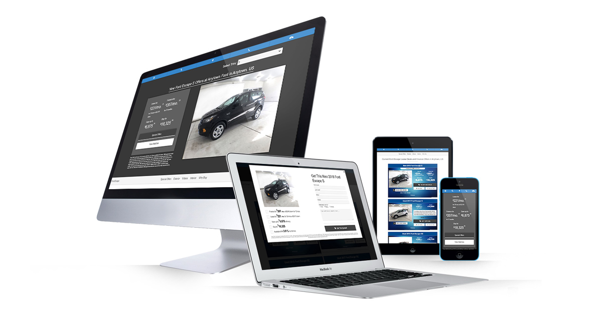 Dealer Teamwork Dynamic Landing Pages on All Device Types