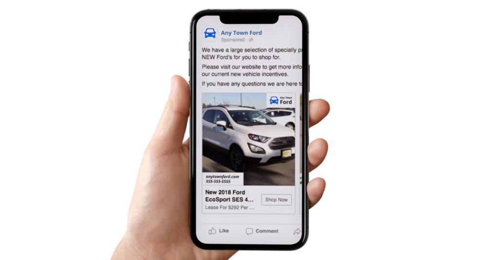 Facebook and Instagram Ad by Dealer Teamwork - Vehicle with Pricing