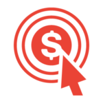 Dynamic Paid Search Marketing Icon - red