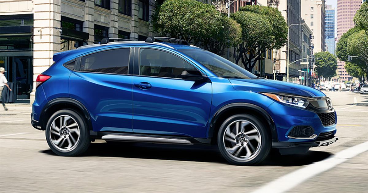 Blue Honda HRV
