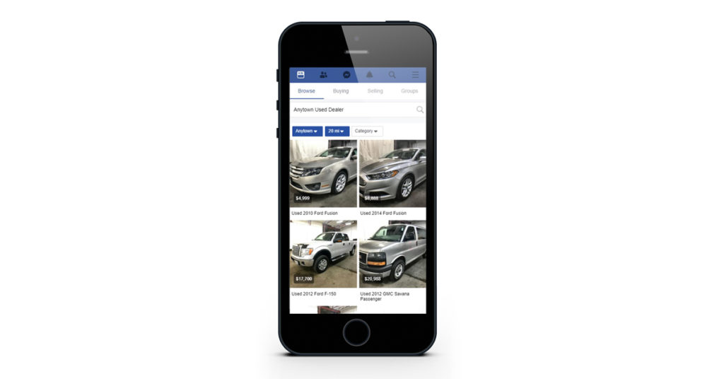 Facebook Marketplace Listings Browsing on Mobile Phone