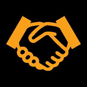 Handshake icon - orange
