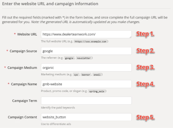 Building UTM with Google's Campaign Builder