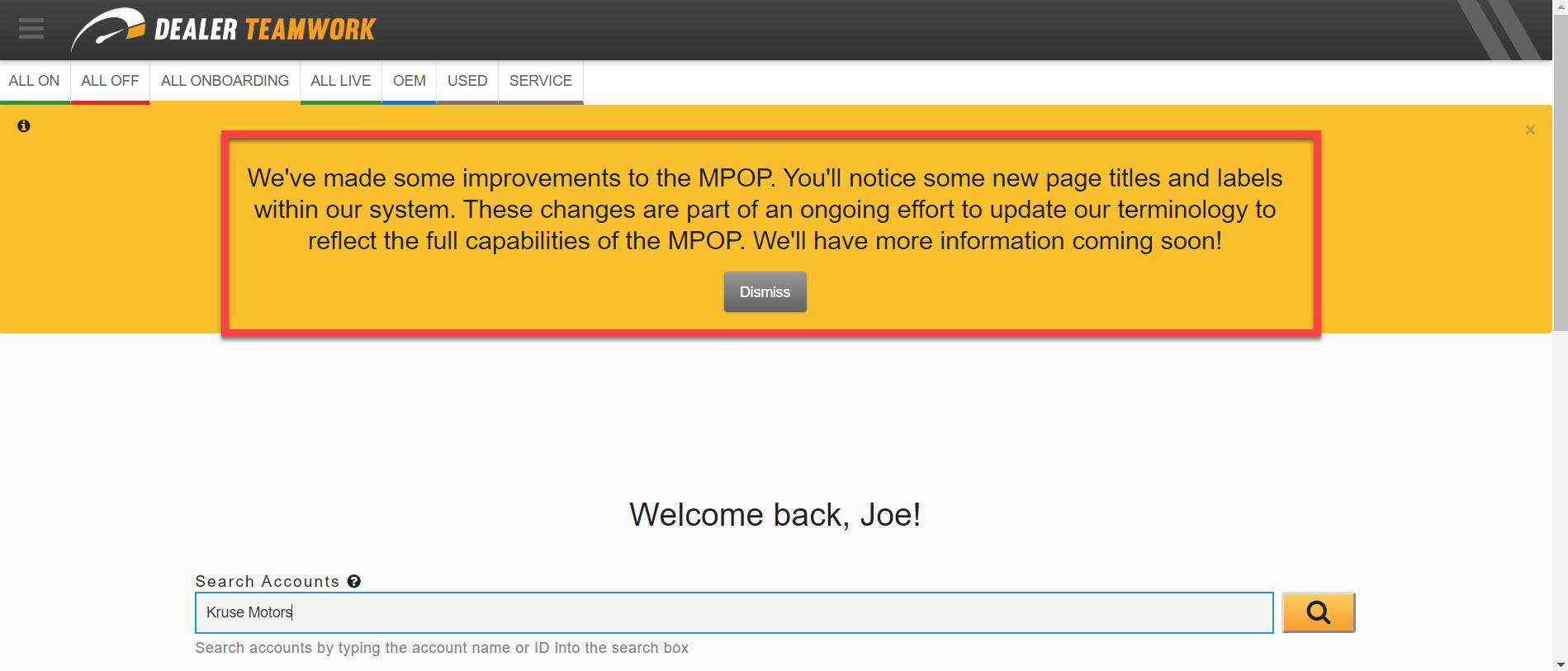 MPOP Notifications