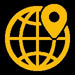 Yellow local SEO icon