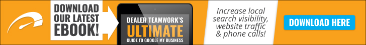 Banner promoting Dealer Teamwork's Ultimate Guide to GMB Ebook