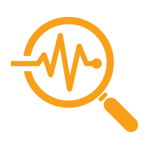 orange monitoring icon