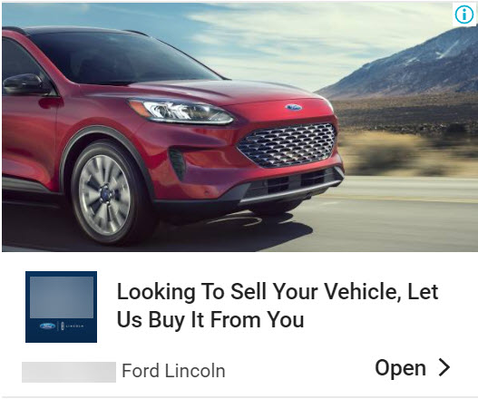 Buyback Display ad example.